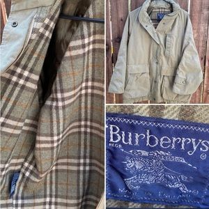 Vintage Burberry Tan Zip Up Jacket Burberrys